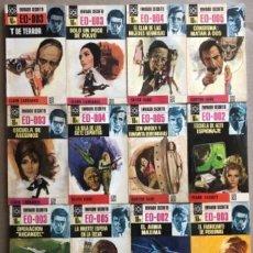 Libros de segunda mano: ENVIADO SECRETO. LOTE DE 12 EJEMPLARES. N°54 Y DEL 66 AL 78. ED. BRUGUERA, 1969 (1°EDICIÓN).. Lote 208432022