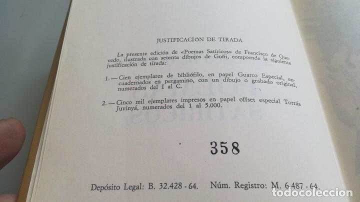 Libros de segunda mano: POEMAS SATIRICOS - FRANCISCO DE QUEVEDO - MARTE EDICIONES -ILUSTRA GOÑI - EDICION NUMERADA - Z603 - Foto 5 - 209617521