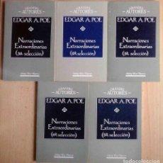 Libros de segunda mano: EDGAR A. POE NARRACIONES EXTRAORDINARIAS 5 TOMOS. RIO NUEVO GRANDES AUTORES. Lote 213590622