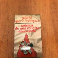 Libros de segunda mano: CRÓNICA DE UNA MUERTE ANUNCIADA. Lote 215276562