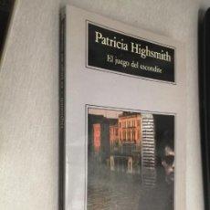 Libros de segunda mano: EL JUEGO DEL ESCONDITE / PATRICIA HIGHSMITH / COMPACTOS ANAGRAMA 1997. Lote 215342438