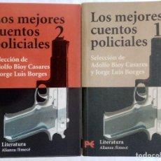 Libros de segunda mano: BORGES, BIOY: LOS MEJORES CUENTOS POLICIALES 1 Y 2. Lote 215709927