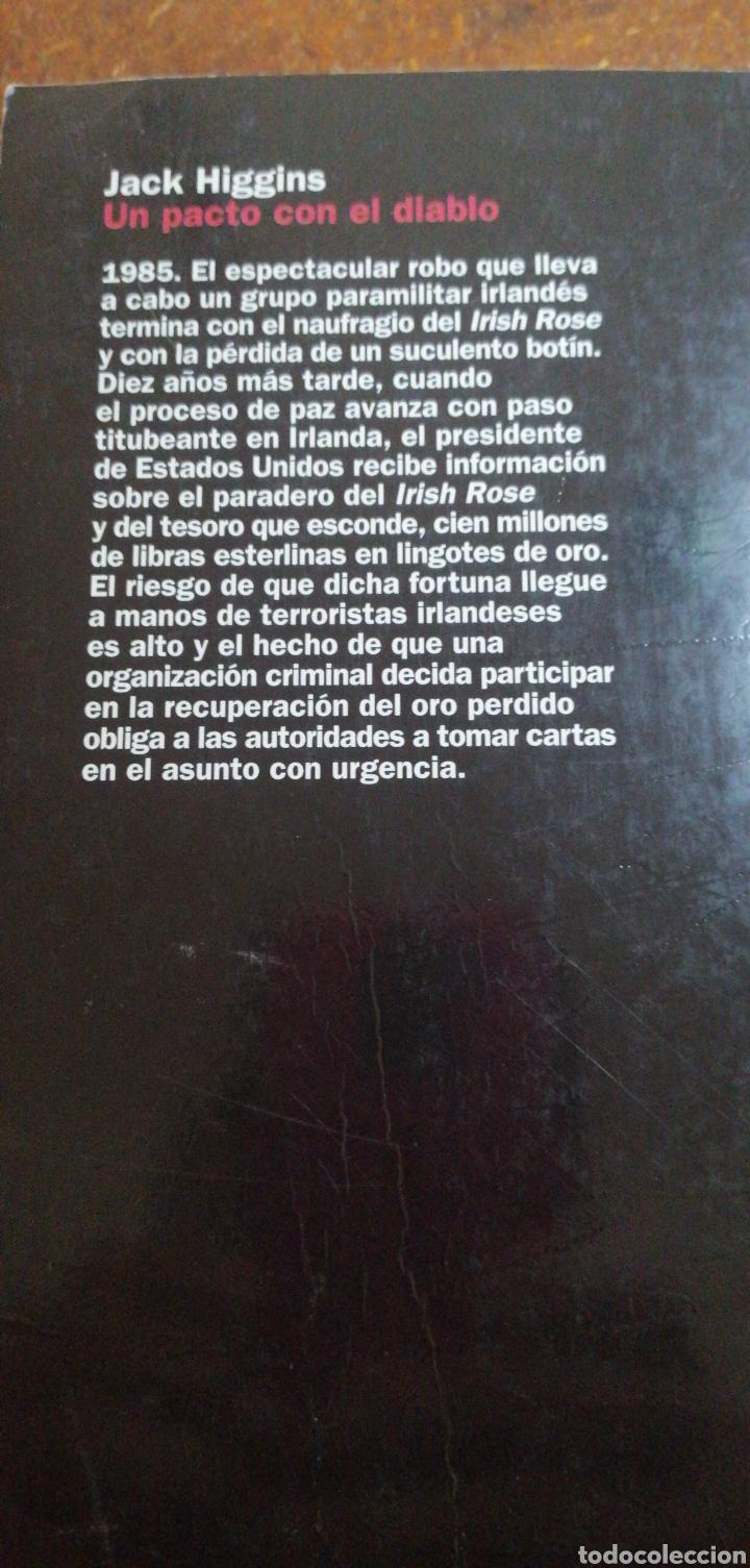 Libros de segunda mano: UN PACTO CON EL DIABLO DE JACK HIGGINS - Foto 4 - 215979056
