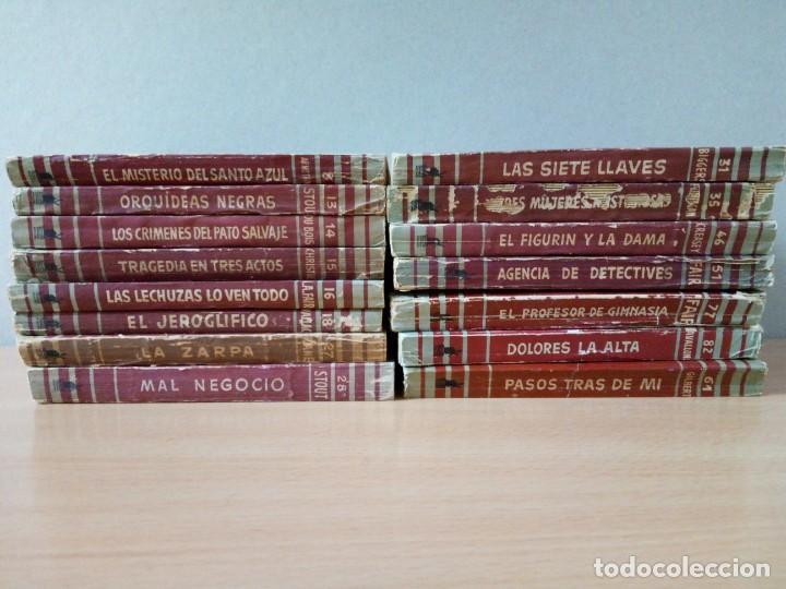 LOTE DE 15 NOVELAS BIBLIOTECA DE ORO DE BOLSILLO DE 1950 A 1956 (Libros de segunda mano (posteriores a 1936) - Literatura - Narrativa - Terror, Misterio y Policíaco)