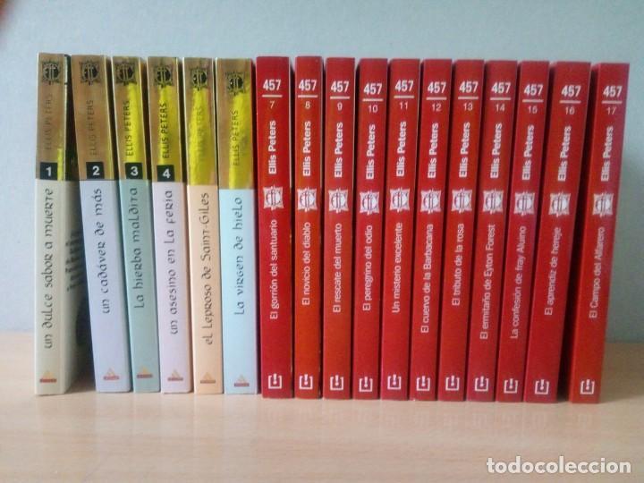 LOTE DE 17 LIBROS DE EL MONJE DETECTIVE DE ELLIS PETERS (Libros de segunda mano (posteriores a 1936) - Literatura - Narrativa - Terror, Misterio y Policíaco)