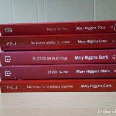 Libros de segunda mano: LOTE DE 5 LIBROS DE SUSPENSE E INTRIGA DE MARY HIGGINS CLARK. Lote 217109796