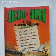 Libros de segunda mano: CÍRCULO DEL CRIMEN 20 LA LISTA DE ADRIAN MESSENGER PHILIP MACDONALD. TDKC77. Lote 219224832