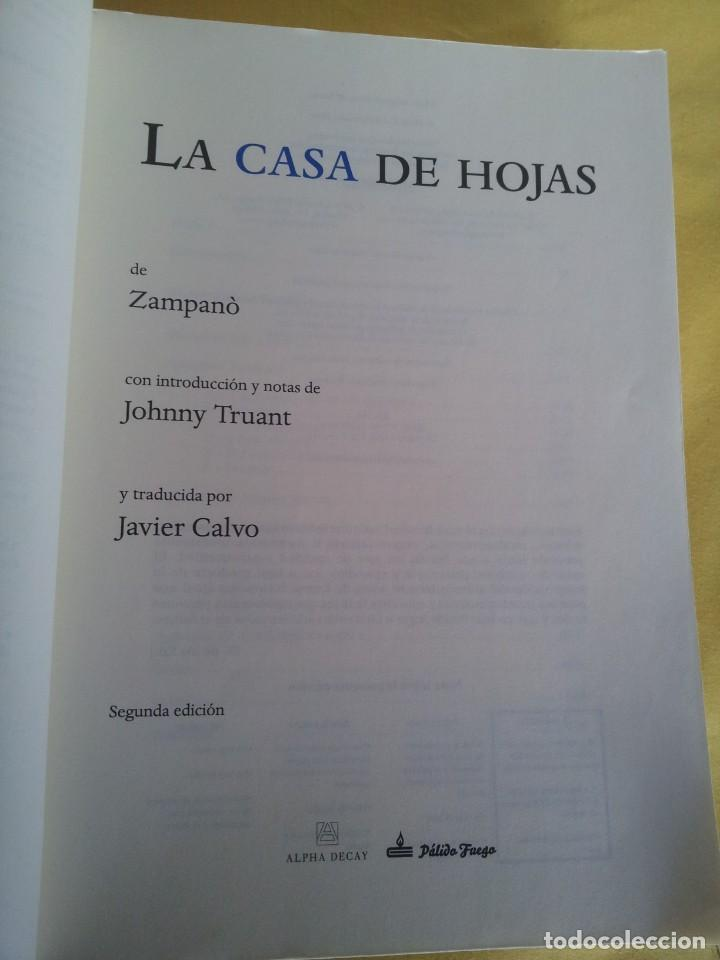 Libros de segunda mano: MARK Z. DANIELEWSKI - LA CASA DE HOJAS - EDITORIAL PÁLIDO FUEGO 2013 - Foto 3 - 220315968