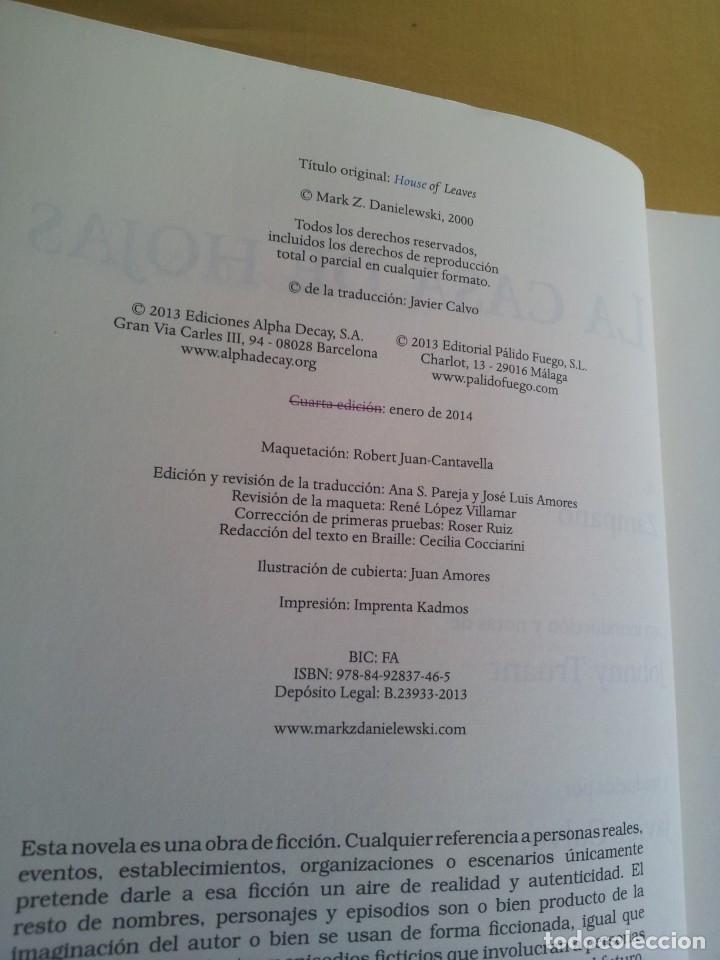 Libros de segunda mano: MARK Z. DANIELEWSKI - LA CASA DE HOJAS - EDITORIAL PÁLIDO FUEGO 2013 - Foto 4 - 220315968