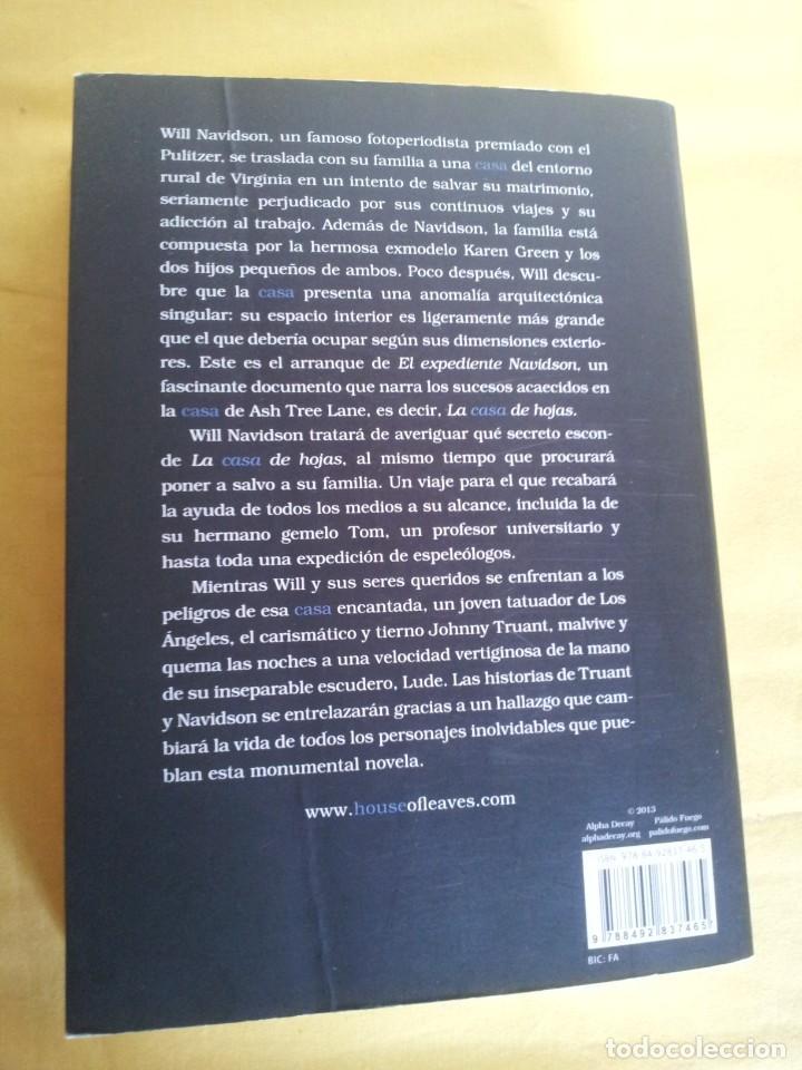 Libros de segunda mano: MARK Z. DANIELEWSKI - LA CASA DE HOJAS - EDITORIAL PÁLIDO FUEGO 2013 - Foto 6 - 220315968