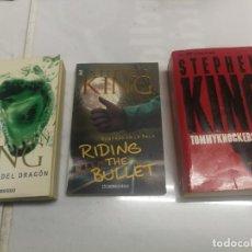 Libros de segunda mano: 3 LIBROS PRIMERA EDICION STEPHEN KING LOS OJOS DEL DRAGON-MONTADO EN LA BALA -TOMMYKNOCKERS. Lote 220718293
