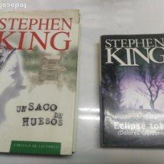 Libros de segunda mano: 2 LIBROS PRIMERA EDICION STEPHEN KING UN SACO DE HUESOS Y ECLIPSE TOTAL (DOLORES CLAIBORNE). Lote 220718570