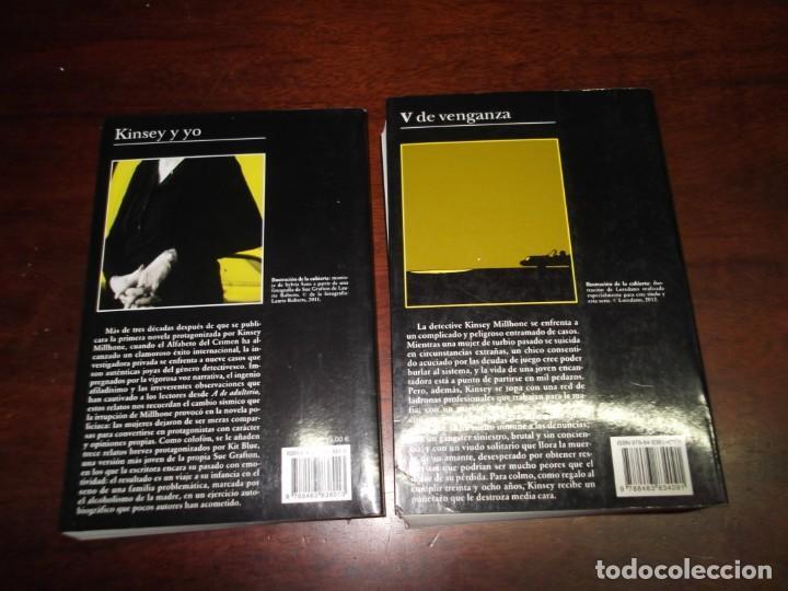 Libros de segunda mano: 2 Libros de Sue Grafton (Kinsey y yo y V de venganza) - Foto 2 - 221280142