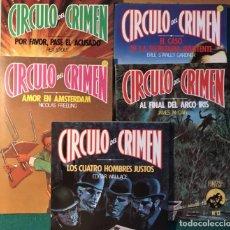 Libros de segunda mano: 5 NOVELAS CÍRCULO DEL CRIMEN. Lote 221496216