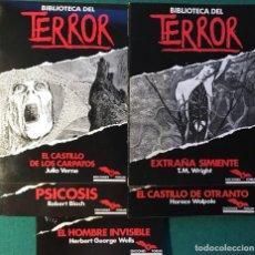 Libros de segunda mano: 5 NOVELAS BIBLIOTECA DEL TERROR, J. VERNE, H. WALPOLE, H. G. WELLS, PSICOSIS.... Lote 221496768