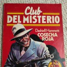 Libros de segunda mano: CLUB DEL MISTERIO Nº 1 COSECHA ROJA / DASHIELL HAMMETT BRUGUERA AÑOS 80. Lote 222068101