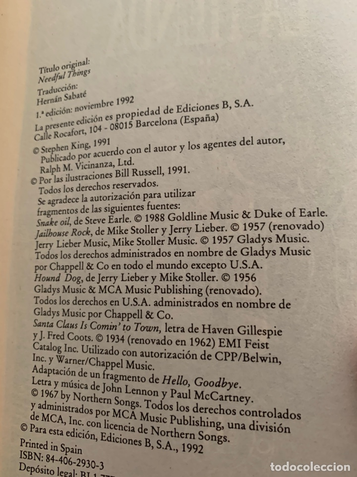 Libros de segunda mano: LIBRO STEPHEN KING - LA TIENDA - EDICIONES B 1ª ED. 1992 - TAPA DURA Y SOBRECUBIERTA - Foto 4 - 222136735