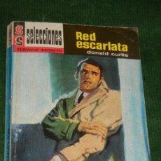 Libros de segunda mano: RED ESCARLATA, DE DONALD CURTIS - SELECCIONES SERVICIO SECRETO 229, BRUGUERA 2A.ED. 1967. Lote 222292001