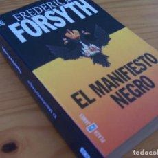 Libros de segunda mano: EL MANIFIESTO NEGRO, DE FREDERICK FORSYTH. SERIE JET DE PLAZA & JANES. Lote 223596697