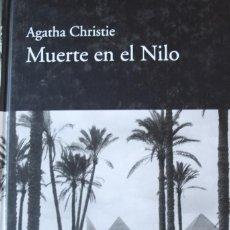 Libros de segunda mano: MUERTE EN EL NILO, AGATHA CHRISTIE, LIBRO NUEVO, PASTAS DURAS, 277 PAGINAS 20 X 14 X 3 CM PESO 411 G. Lote 224381905