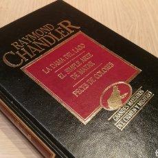 Libros de segunda mano: RAYMOND CHANDLER - LA DAMA DEL LAGO - EL SIMPLE ARTE DE MATAR - PECES DE COLORES. Lote 227092750