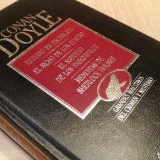 Libros de segunda mano: ESTUDIÓ EN ESCARLATA - EL SIGNO SE LOS CUATRO - EL SABUESO DE LOS BASKERVILLE - MEMORIAS DE SHERLOCK. Lote 227093610