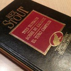 Libros de segunda mano: RED STOUT - TRES TESTIGOS - SOBRE MI CADÁVER - EL TORO CAMPEÓN. Lote 227247155
