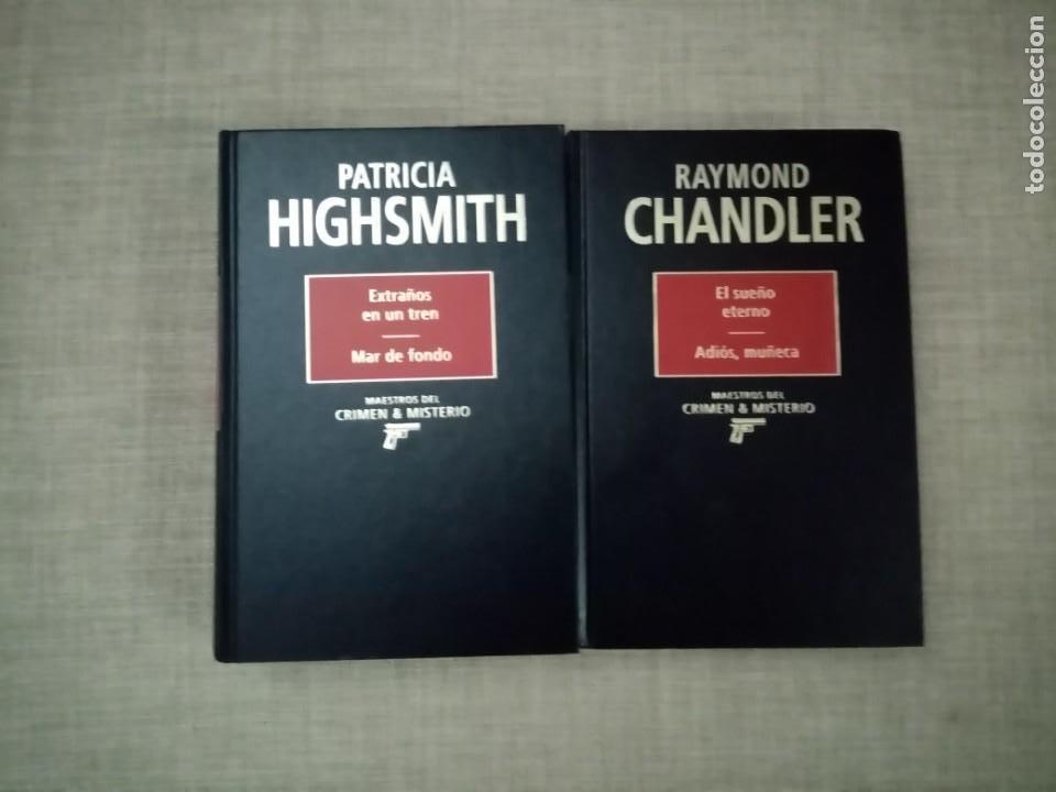 MAESTROS DEL CRIMEN Y MISTERIO PATRICIA HIGHSMITH-RAYMOND CHANDLER RBA 1994 (Libros de segunda mano (posteriores a 1936) - Literatura - Narrativa - Terror, Misterio y Policíaco)