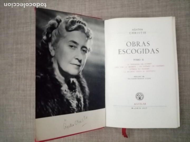 Libros de segunda mano: AGATHA CHRISTIE OBRAS ESCOGIDAS TOMO II EDITORIAL AGUILAR 1957 - Foto 3 - 228492970