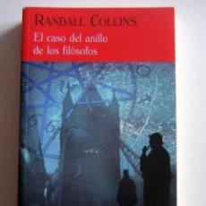 Libros de segunda mano: EL CASO DEL ANILLO DE LOS FILOSOFOS. RANDALL COLLINS. VALDEMAR EL CLUB DIOGENES.. Lote 228919430