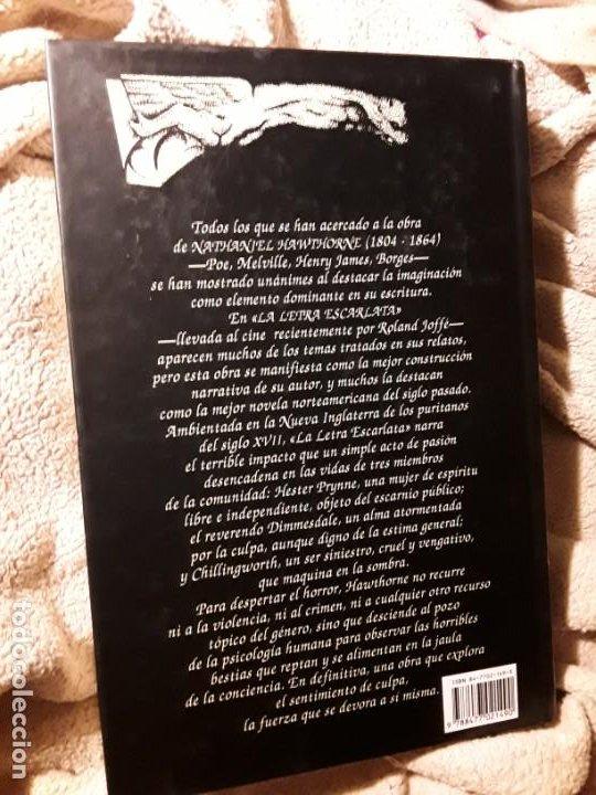 Libros de segunda mano: La letra escarlata, de Nathaniel Hawthorne. Valdemar Gótica 1995 (1.ª edición) - Foto 2 - 228956796