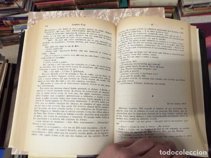 Libros de segunda mano: STEPHEN KING . IT ( ESO ). PLAZA & JANÉS . 1988. ILUSTRACIÓN PORTADA BOB GIUSTI. TAPA DURA - Foto 6 - 234468335