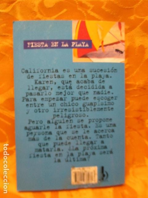 Libros de segunda mano: LOS THRILLERS DE R.L. STINE - EL TERROR CONTINUA - FIESTA EN LA PLAYA Nº 10 - Foto 7 - 235215875