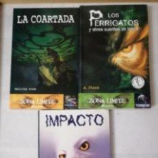 Libros de segunda mano: TRES LIBROS DE TERROR,CRIMEN Y MISTERIO.ZONA LIMITE.. Lote 235300345