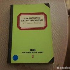 Libros de segunda mano: NARRACIONES EXTRAORDINARIAS DE EDGAR ALLAN POE. Lote 236063415