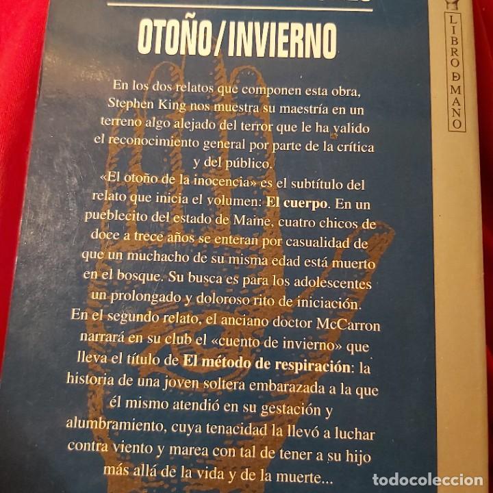 Libros de segunda mano: Stephen King. Las cuatro estaciones, otoño / invierno. Grijalbo Mondadori. - Foto 2 - 236981825