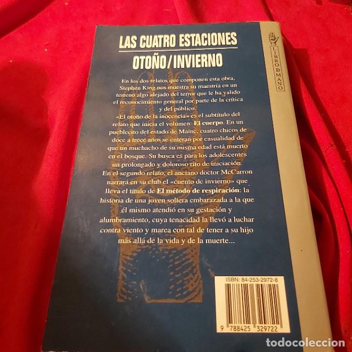 Libros de segunda mano: Stephen King. Las cuatro estaciones, otoño / invierno. Grijalbo Mondadori. - Foto 3 - 236981825