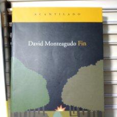 Libros de segunda mano: DAVID MONTEAGUDO. FIN. ACANTILADO. Lote 239929875