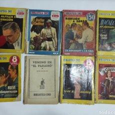 Libros de segunda mano: LOTE 13 NOVELAS BIBLIOTECA ORO DESDE 1936 AL 1956. Lote 243539095