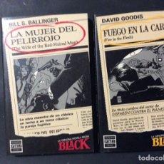 Libros de segunda mano: LA GENUINA NOVELA NEGRA BLACK Nº 2 Y 3. Lote 243883615