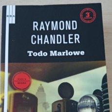 Libros de segunda mano: TODO MARLOWE RAYMOND CHANDLER COLECCIÓN SERIE NEGRA DE RBA. Lote 243910765