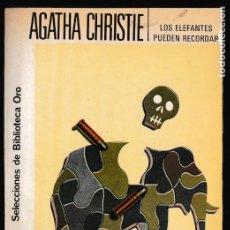 Libros de segunda mano: LOS ELEFANTES PUEDEN RECORDAR - AGATHA CHRISTIE - EDITORIAL MOLINO. Lote 244200415