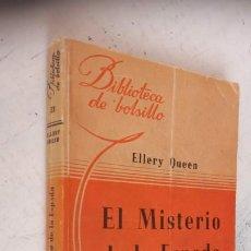 Libros de segunda mano: ELLERY QUEEN - EL MISTERIO DE LA ESPADA - BIBLIOTEC DE BOLSILLO Nº 33 - 1945 LIBRERÍA HACHETTE. Lote 244944975