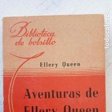 Libros de segunda mano: ELLERY QUEEN - AVENTUAS DE ELLERY QUEEN - BIBLIOTECA DE BOLSILLO Nº 93 - 1944 ACHETTE. Lote 244947280