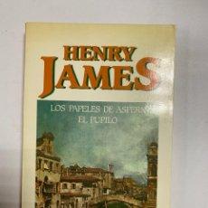 Libros de segunda mano: LOS PAPELES DE ASPERN. EL PUPILO. HENRY JAMES. TAIFA. BARCELONA, 1985. PAGS: 183. Lote 246905255