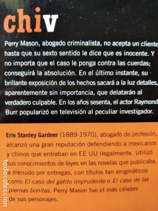 Libros de segunda mano: EL CASO DE LA CHICA VACILANTE, ERLE STANLEY GARDNER - COLECCION EL PAIS SERIE NEGRA Nº 10 - Foto 2 - 253442180