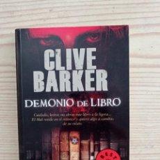 Libros de segunda mano: DEMONIO DE LIBRO - CLIVE BARKER - 2011 - LA FACTORIA DE IDEAS. Lote 254033760