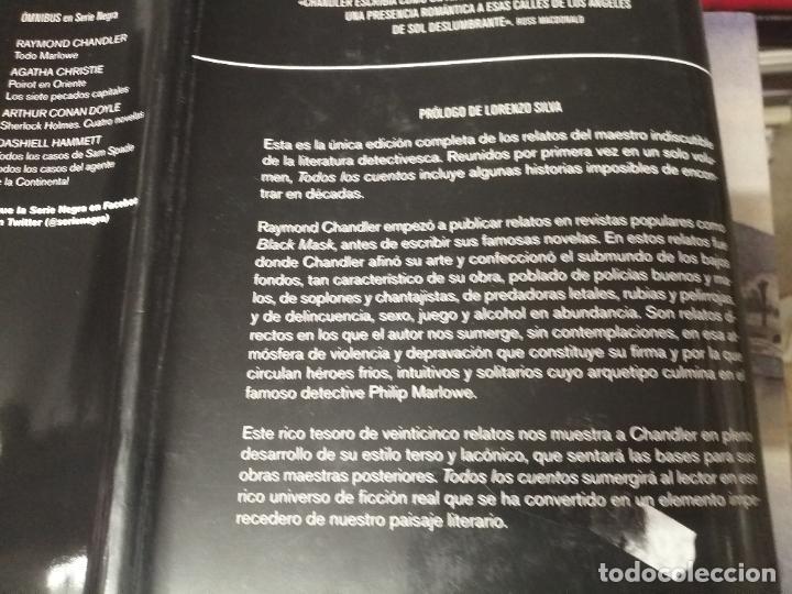 Libros de segunda mano: RAYMOND CHANDLER . TODOS LOS CUENTOS . SERIE NEGRA. EDICIÓN RBA . 1ª EDICIÓN 2012 . UNA JOYA!! - Foto 9 - 254712440