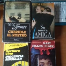 Libros de segunda mano: LOTE 4 NOVELAS POLICIACAS, RUTH RENDELL, P.D. JAMES, MARY HIGGINS CLARK. Lote 254728295