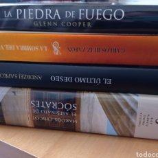 Libros de segunda mano: LOTE 4 LIBROS ZAFON CHICOT SAPKOWSKI GLENN COOPER HISTORIA MISTERIO FANTASÍA. Lote 254730385